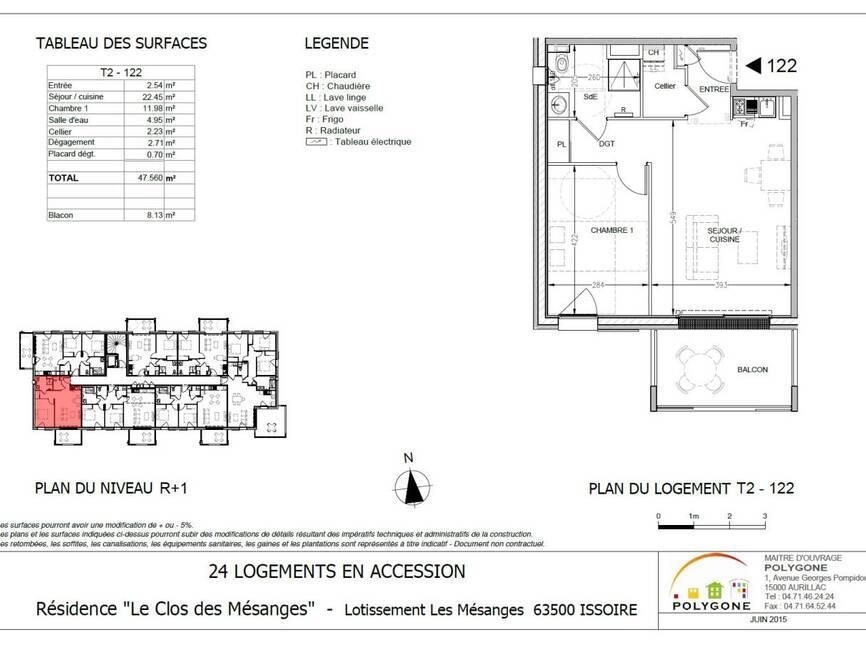 vente appartement 2 pi ces issoire 63500 33750. Black Bedroom Furniture Sets. Home Design Ideas