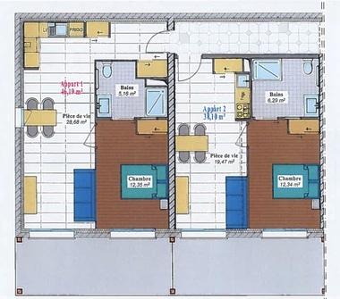 Vente Appartement 2 pièces 38m² Issoire (63500) - photo