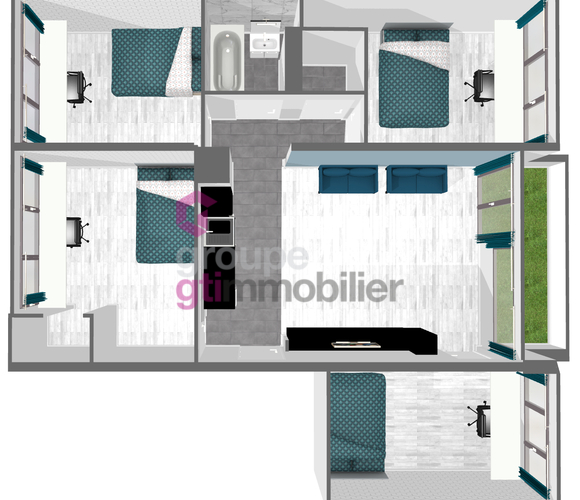 Vente Appartement 5 pièces 70m² Saint-Étienne (42100) - photo