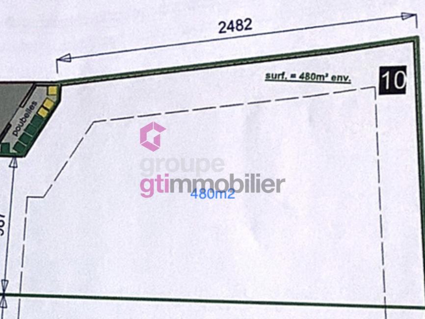 Vente Terrain 480m² Sury-le-Comtal (42450) - photo